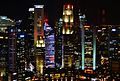 Singapore Central Business District viewed from The Stamford bei Nacht 2.jpg