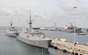 Changi Naval Base - Singapore and United States warships at Changi Naval Base in 2015