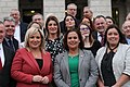 Sinn Féin President Mary Lou McDonald TD and Deputy First Minister Michelle O'Neill with newly appointed Ministers Conor Murphy (Finance) and Deirdre Hargey (Communities) (49367947601).jpg