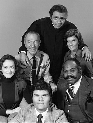 Ted Ross - Ross (bottom right) in the cast of Sirota's Court
