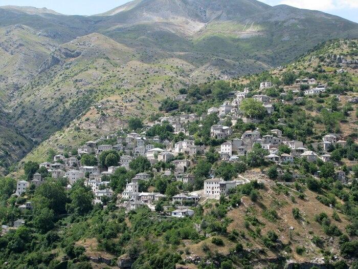 Sirrako Village in Epirus, Greece