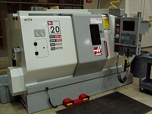 A CNC Turning Center in the FAME Lab in the Le...
