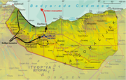 Historical map of the Italian invasion of Somaliland, 1942