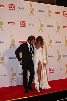 Sonia Kruger and Daniel MacPherson at the 2011 Logie Awards.jpg