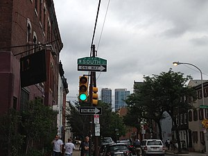 South Street (Philadelphia) - South Street corner in Fitler Square