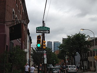South Street (Philadelphia) - South Street corner in Fitler Square