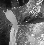 South Sinclair Glacier, valley glacier and hanging glacier remnants, September 12, 1986 (GLACIERS 5259).jpg
