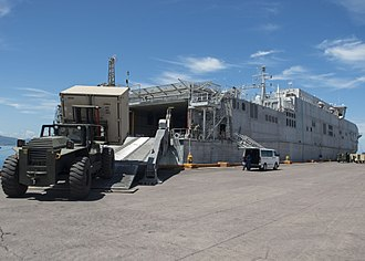 Spearhead-class expeditionary fast transport - Ramp deployed and in use