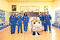 Soyuz TMA-05M prime and backup crews at the Korolev Museum.jpg