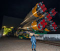 Soyuz TMA-07M rollout by train 1.jpg