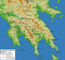 Territory of ancient Sparta