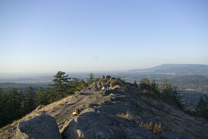 Spencer Butte - View north across the summit