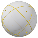Spherical polyhedron with great circles, 8 y.png