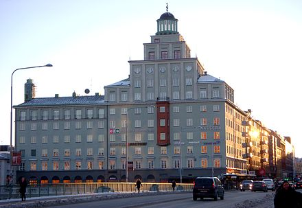 Polar Music Studios was situated in this building at 58 Sankt Eriksgatan in Stockholm until 2004 Sportpalatset Stockholm 2010.jpg