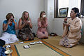 Spouses learn traditional art of ancient Japanese tea ceremonies 130926-M-DU087-777.jpg