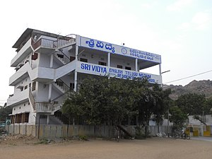 Education in Andhra Pradesh - Image: Sri Vidya High School