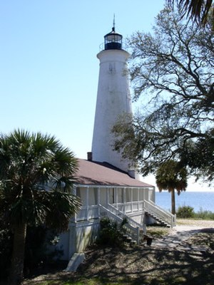 National Register of Historic Places listings in Wakulla County, Florida - Image: St marks lighthouse