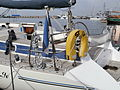 St. Iv Flag and Man-overboard Rescue Device Lennusadam Tallinn 18 May 2014.JPG