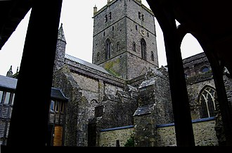 St David's Cathedral - St Davids from renovated cloisters