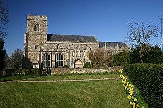 Glemsford village in United Kingdom
