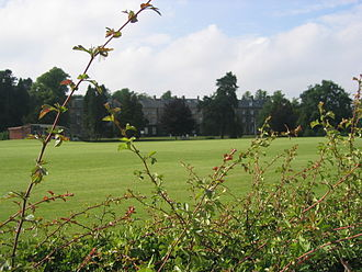 Stonyhurst Saint Mary's Hall - SMH from across the sports pitches