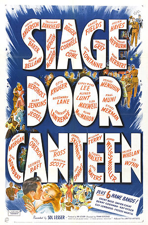 Stage Door Canteen (film) - Theatrical release poster