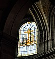 Stained glass window of Saint Sulpice, Paris July 2015.jpg