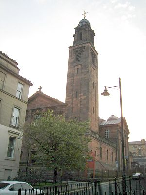 St Aloysius' College, Glasgow - St Aloysius Church next door, associated with the college