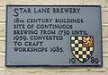 Star Lane Brewery plaque lewes (9874674084).jpg