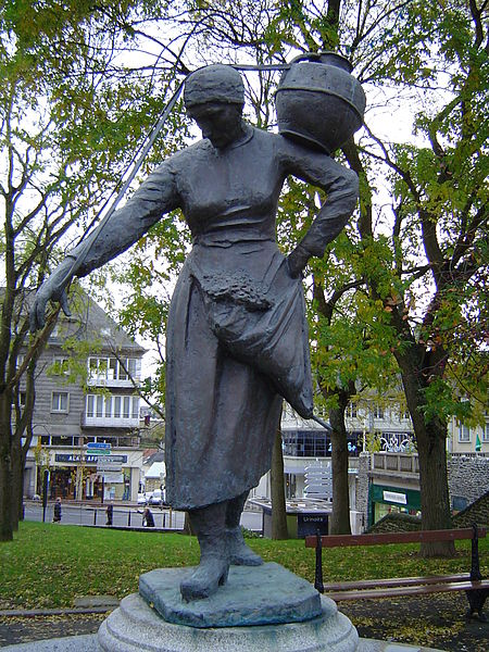 A reproduction of a statue of Arthur Le Duc