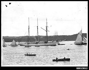 Sunbeam RYS (1874) - Steam yacht SUNBEAM in Sydney Harbour. From the collection of the Australian National Maritime Museum, object 00013812