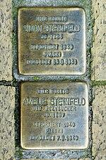 Stolpersteine Simon Steinfeld, Amelie Steinfeld