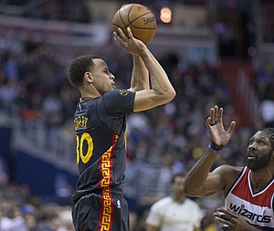 Cavaliers–Warriors rivalry - Stephen Curry (pictured) of the Warriors won his first Most Valuable Player Award in 2015.