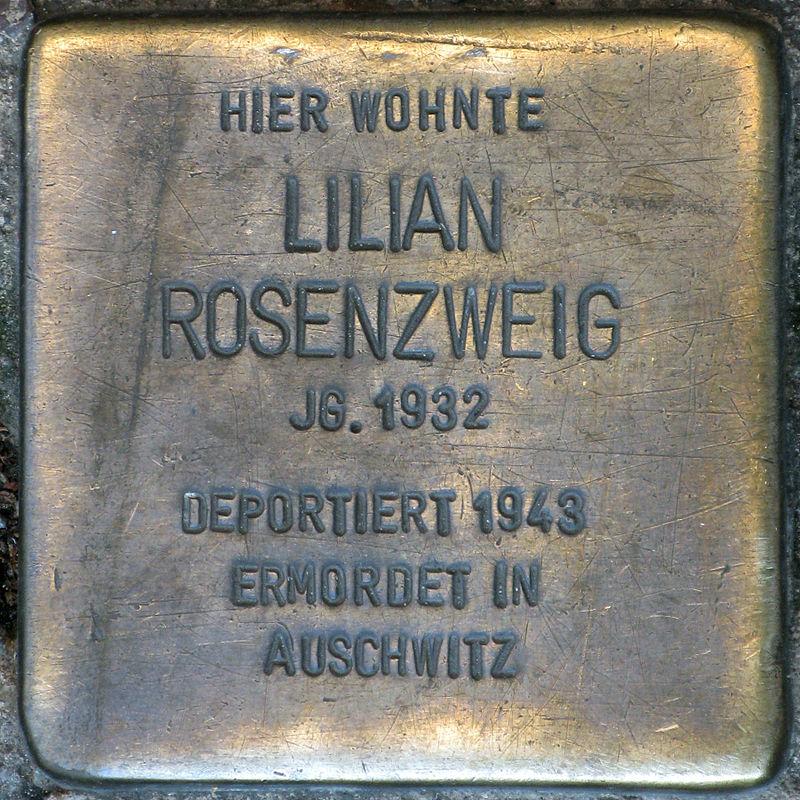 Stolperstein.Prenzlauer Berg.Torstraße 89.Lilian Rosenzweig.5638.jpg