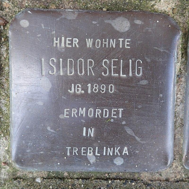 Stolperstein Am Binnenhafen 20 Isidor Selig.jpg