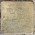 Stolperstein Damaschkestr 28 (Charl) Resi Wotizky.jpg