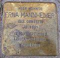 Stolperstein Gaußstraße 14 Erna Mannheimer.jpg