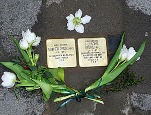 Herschel Grynszpan - Marker for Herschel and his sister, Esther, at the Holocaust Memorial in Hanover