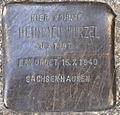Stolperstein Heinrich Wurzel Swinemünder Straße 74 0034.JPG