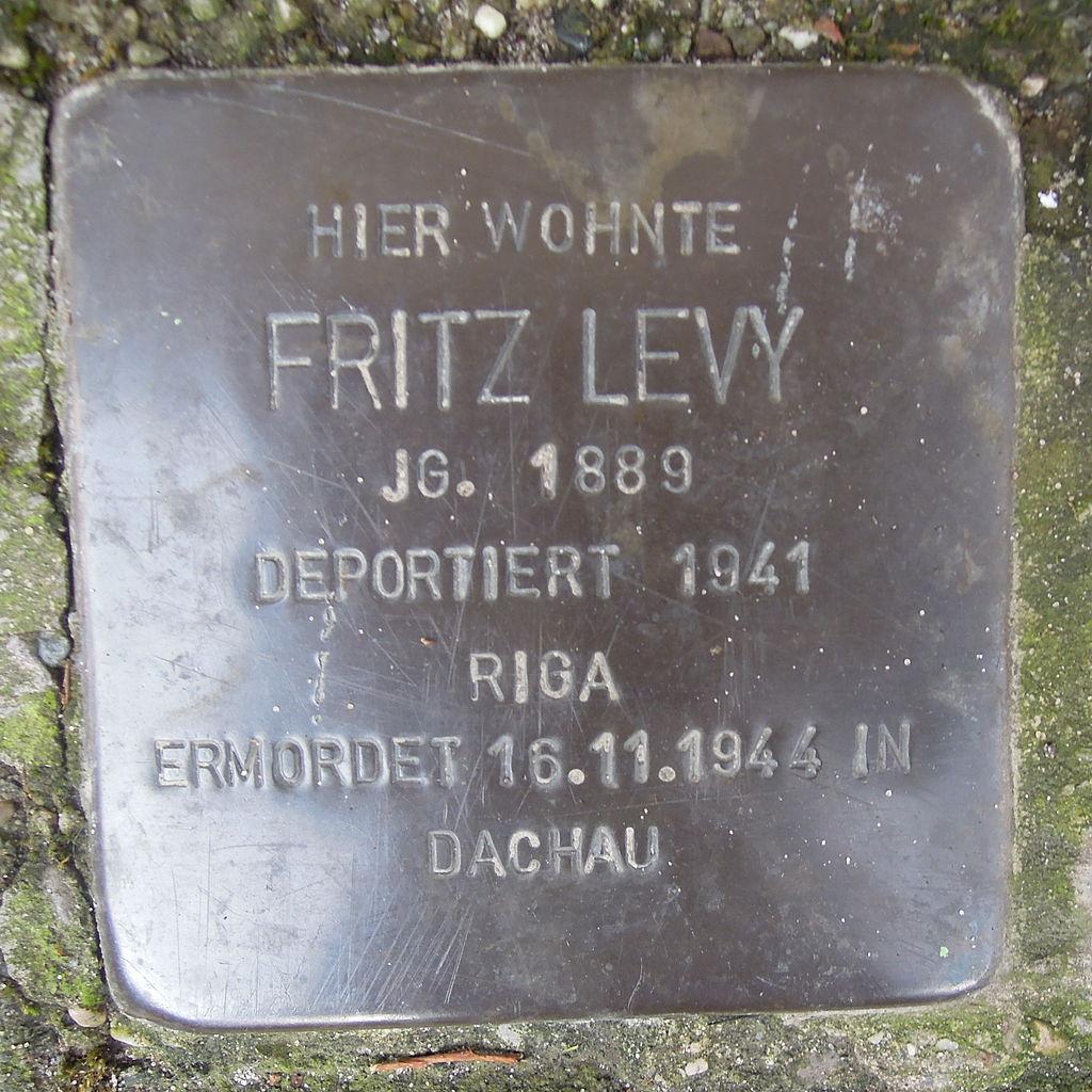 Stolperstein Herford Credenstraße 17 Fritz Levy