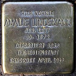 Photo of Amalie Lindemann brass plaque