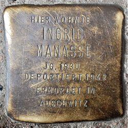 Photo of Ingrid Manasse brass plaque
