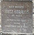 Stolperstein Lüdinghausen Olfener Straße 10 Fritz Strauss.jpg