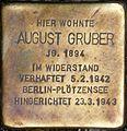 Stolperstein Salzburg, August Gruber (Herbert-von-Karajan-Platz 2).jpg