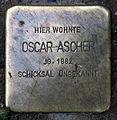 Stolperstein Sanderstr 14 (Neukö) Oscar Ascher.jpg