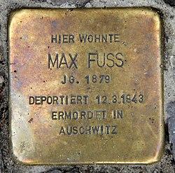 Photo of Max Fuss brass plaque