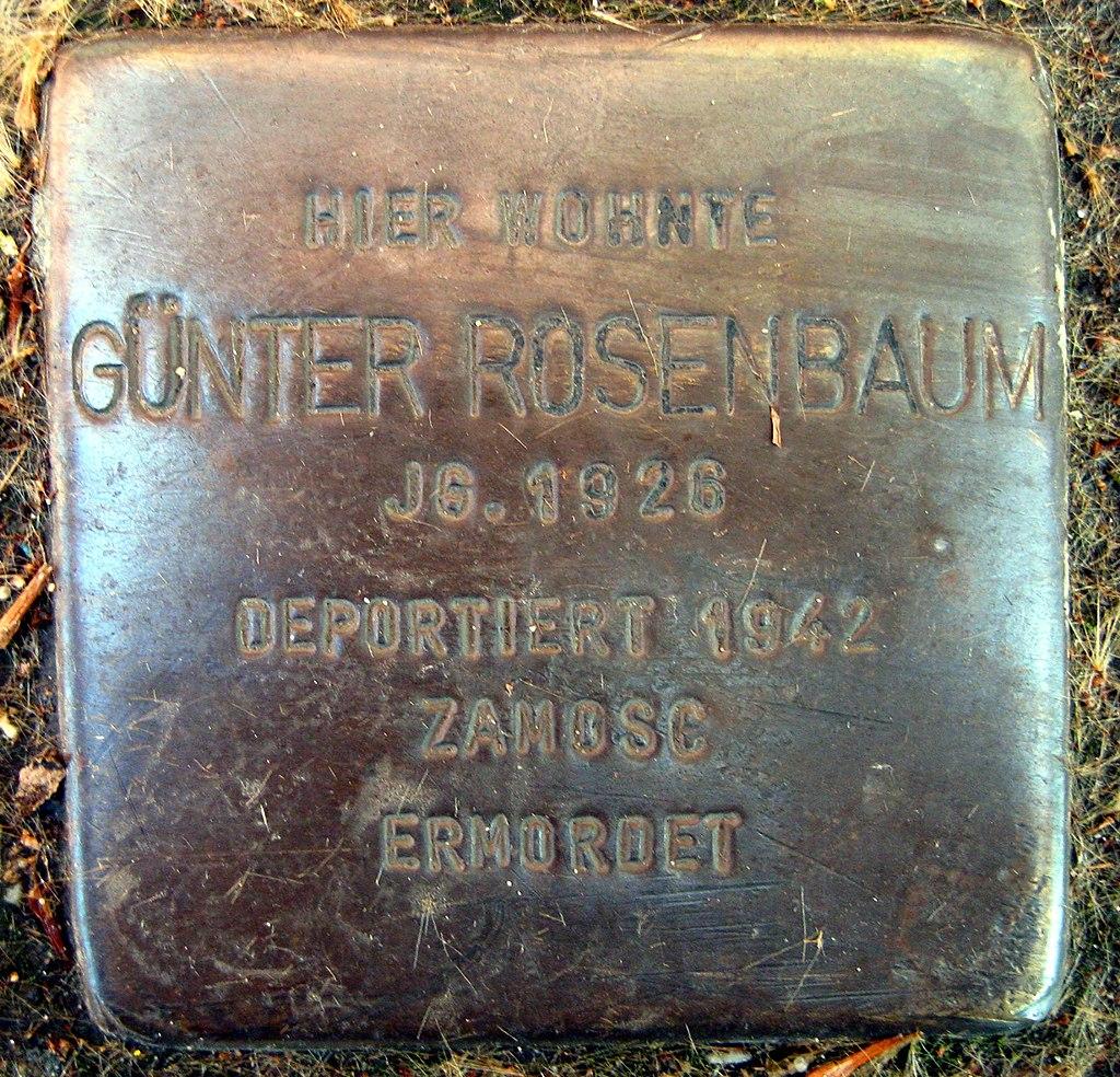 Stolpersteine Dortmund Arminiusstraße 5 Günter Rosenbaum.jpg