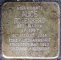 Stolpersteine Köln, Alice Rosenberg (Burtscheider Straße 19).jpg