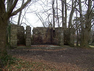 North Stoneham Park - Remains of the war shrine in 2009