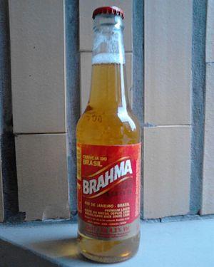 Beer in Brazil - A bottle of Brahma